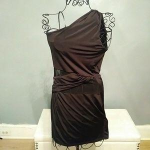 little black mini dress LBD w/ sheer cut outs